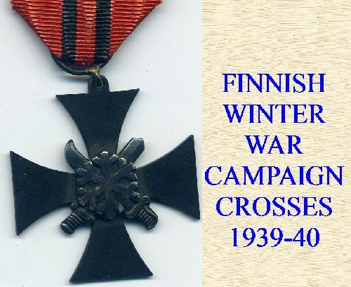 FINNISH WINTER WAR CROSSES  ETC
