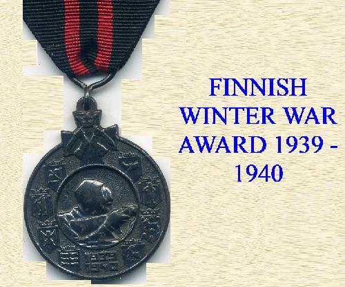 FINNISH 1939-1940 MEDALS
