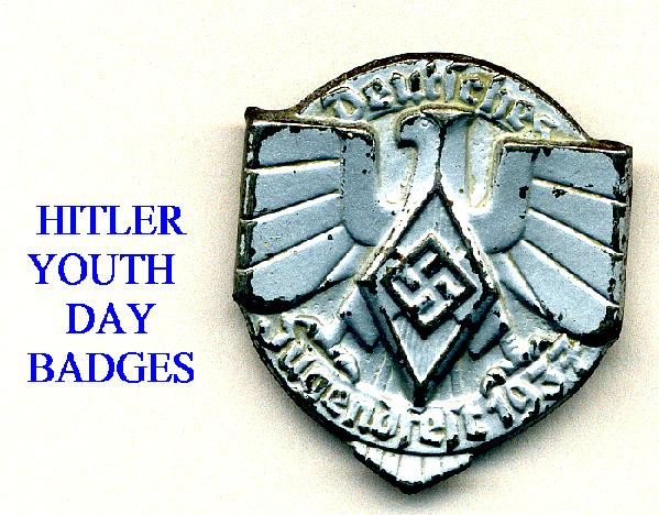 HITLER YOUTH DAY BADGES