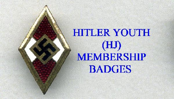 HITLER YOUTH MEBERSHIP BADGES AND OTHER ITEMS