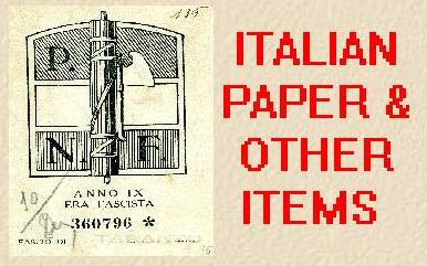 ITALIAN PAPER & OTHER ITEMS