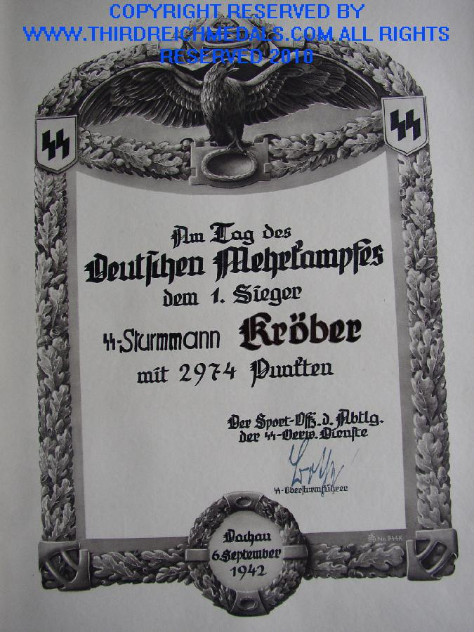 GERMAN CIVILIAN AWARD DOCUMENTS