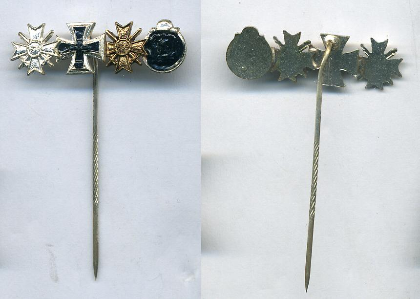 German 1957 Stick pin Grouping      at WWW.Thirdreichmedals.com