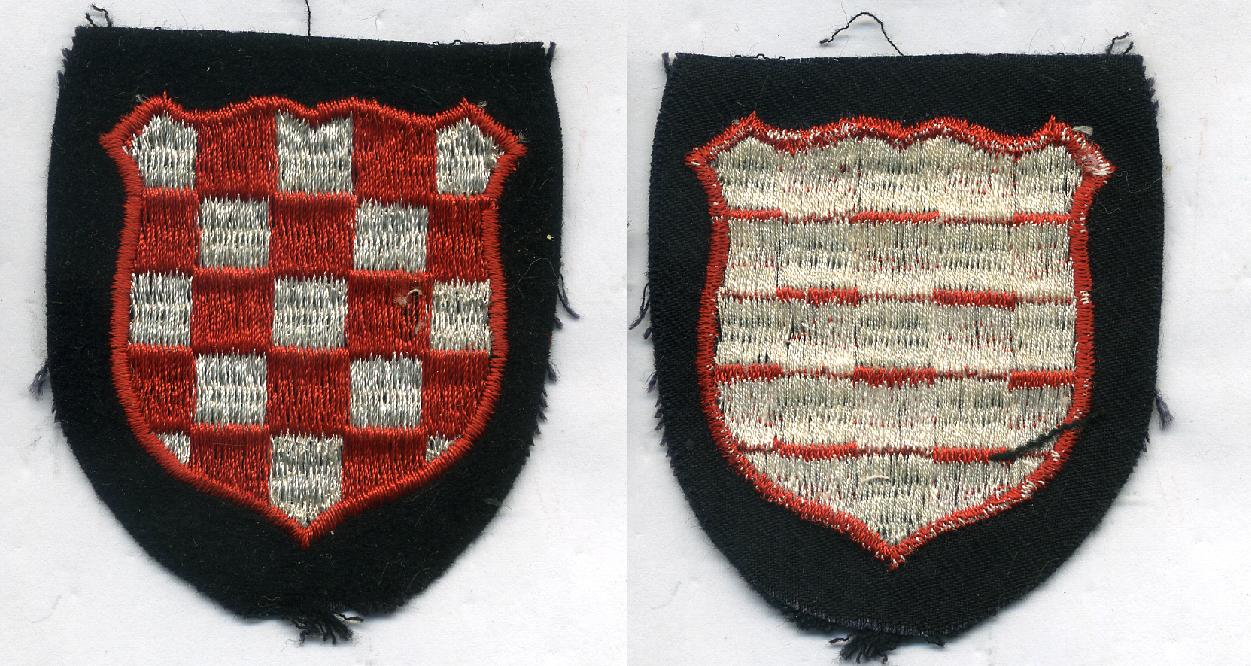Croata  arm shield from Germany 1939-145      at WWW.Thirdreichmedals.com