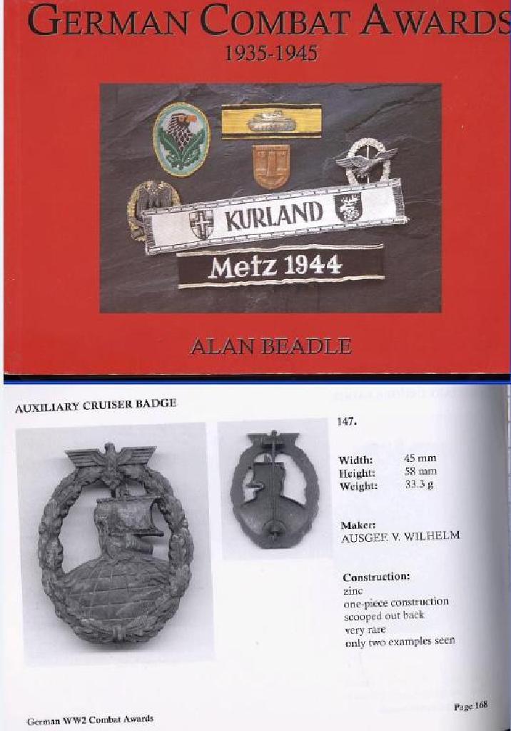 GERMAN COMBAT AWARDS 1935-1945 BY ALAN BEADLE
