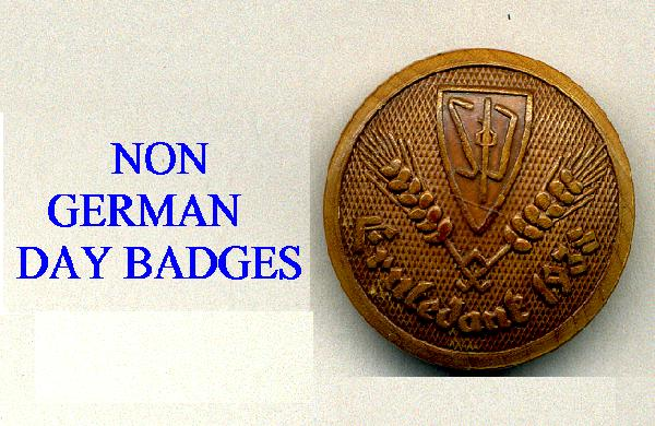 NON GERMAN DAY BADGES