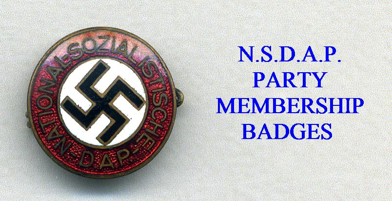 NSDAP PARTY BADGES