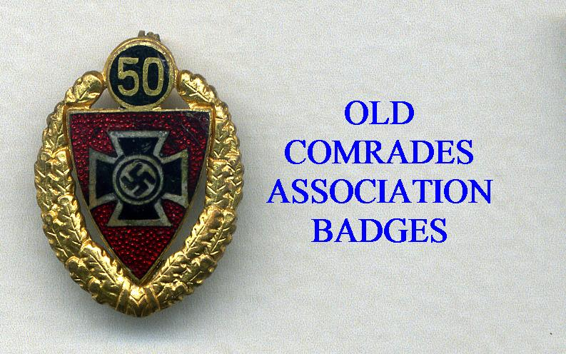 OLD COMRADES MEMBERSHIP BADGES
