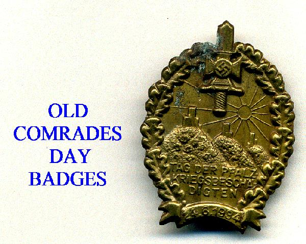 OLD COMRADES DAY BADGES