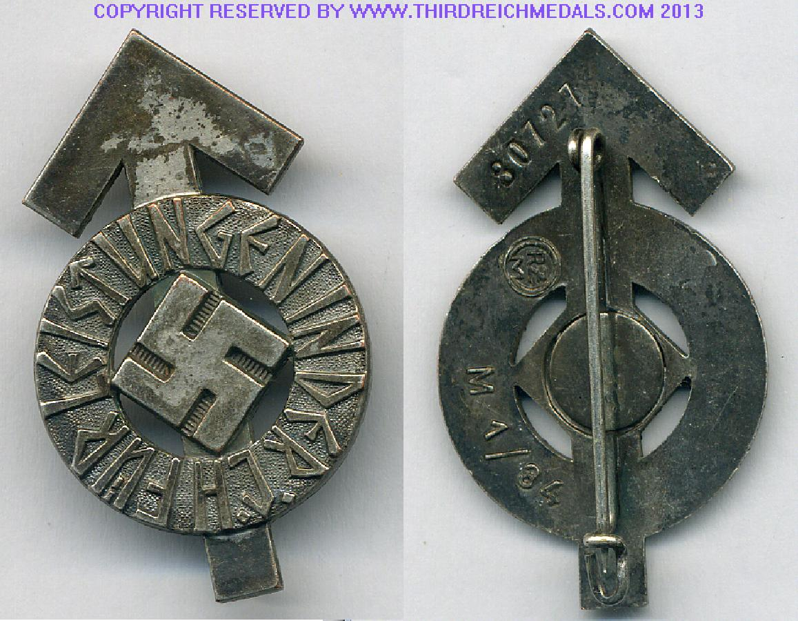 Early Bronze Panzer  Badge at WWW.Thirdreichmedals.com