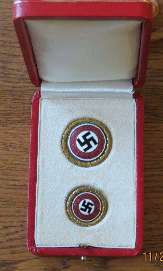 German Golden Party Badge Case <BR> Case For Sale