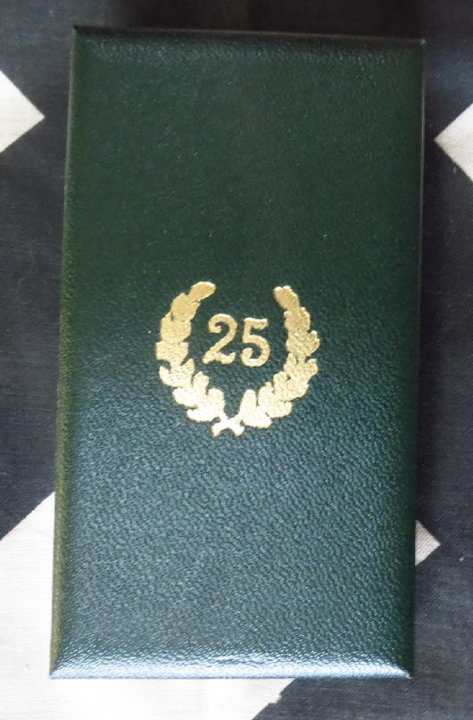 Police 25 Year Service <BR> Case For Sale