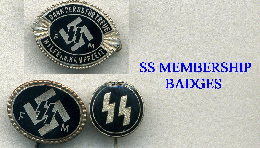 SS  MEBERSHIP BADGES