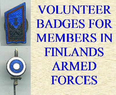 VOLUNTEERS IN THE FINNISH FORCES AWARDS